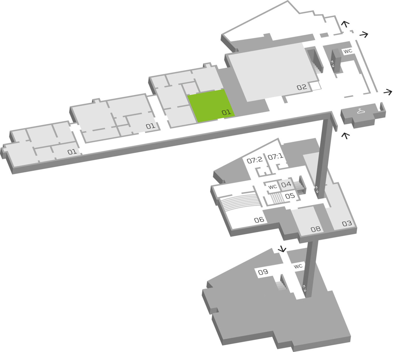 Map of Moderna Museet